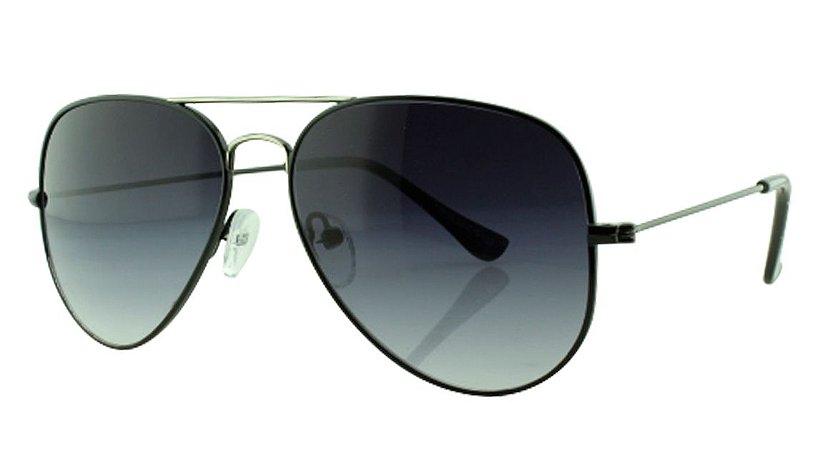 Óculos Solar Aviador Unissex Primeira Linha OC3026 Preto Degradê