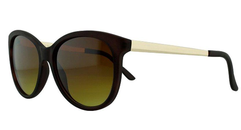 Óculos Solar Feminino Primeira Linha 681094 Marrom Escuro Degradê
