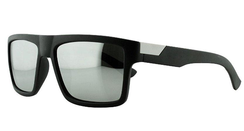 Óculos Solar Masculino Primeira Linha Polarizado P7719 Prata Espelhado