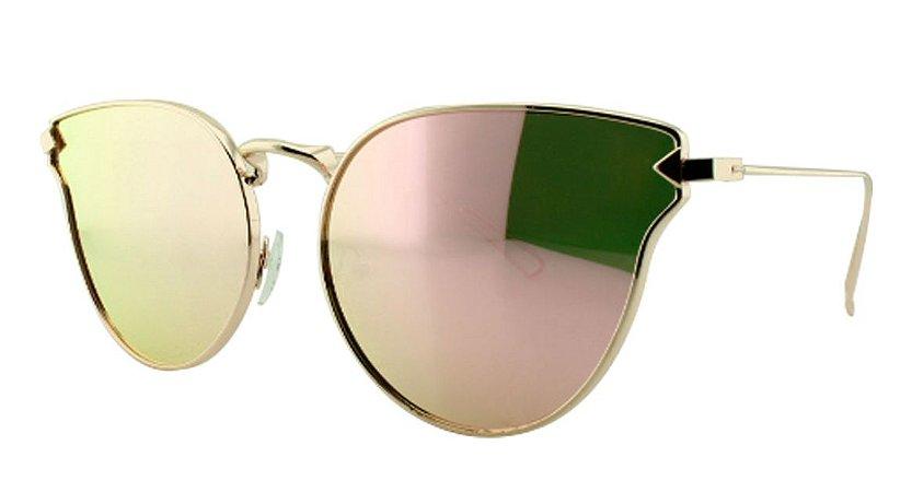 Óculos Solar Feminino Primeira Linha NY1024 Rosa Espelhado