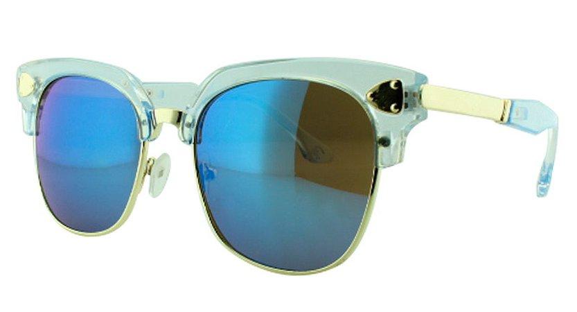 Óculos Solar Infantil 614106 Azul Espelhado