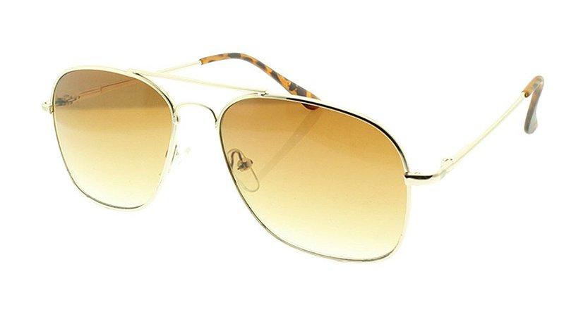 Óculos Solar Masculino VC10101 Marrom Degradê