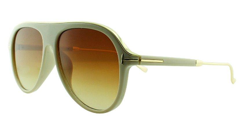 Óculos Solar Unissex Primeira Linha JX8130 Bege