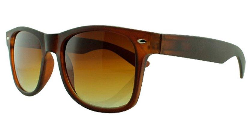 Óculos Solar Unissex Primeira Linha W1 Marrom Degradê