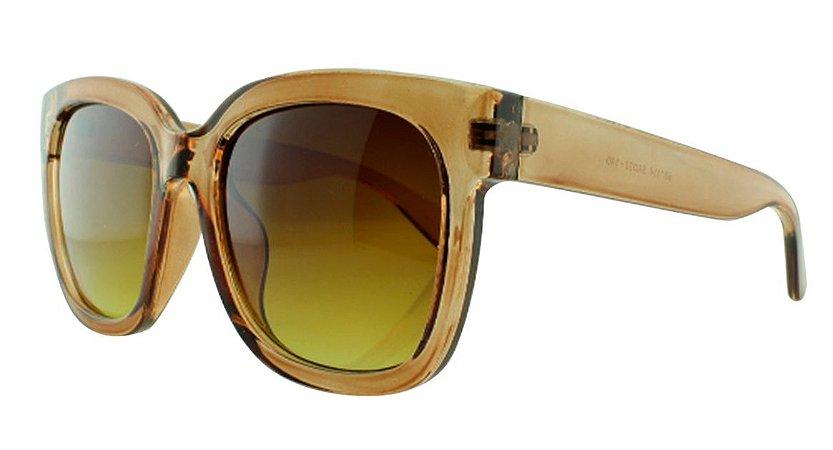 Óculos Solar Feminino 681114 Marrom Transparente