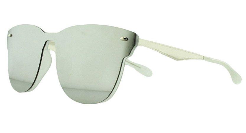 Óculos Solar Unissex Primeira Linha AIP8431 Prata Espelhado
