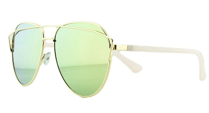 Óculos Solar Feminino AP8808 Rosa Espelhado