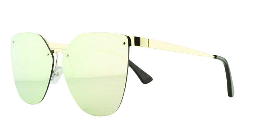 Óculos Solar Feminino Primeira Linha PR69TS Rosa Espelhado