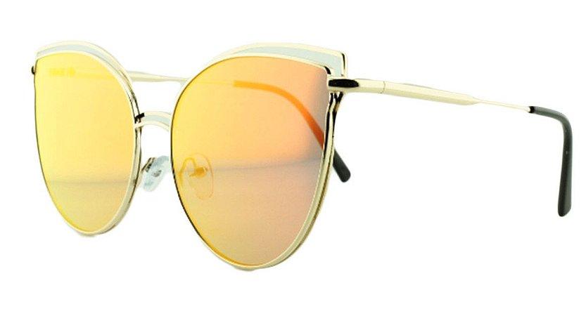 Óculos Solar Feminino AP8807 Vermelho Espelhado