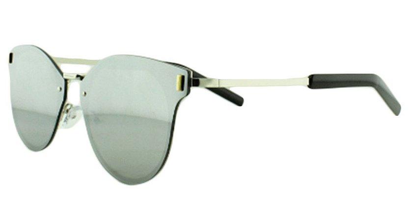 Óculos Solar Unissex Primeira Linha 8136 Prata Espelhado