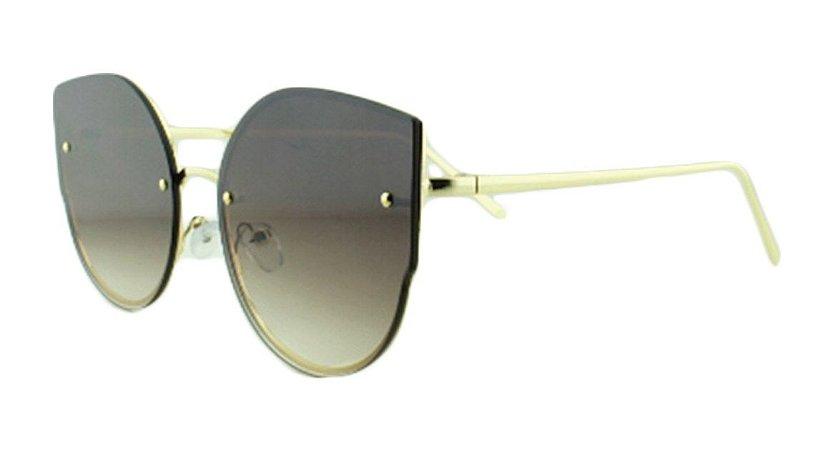 7318b45788e9c Óculos Solar Feminino AP8811 Marrom Escuro Degradê - Atacado de ...