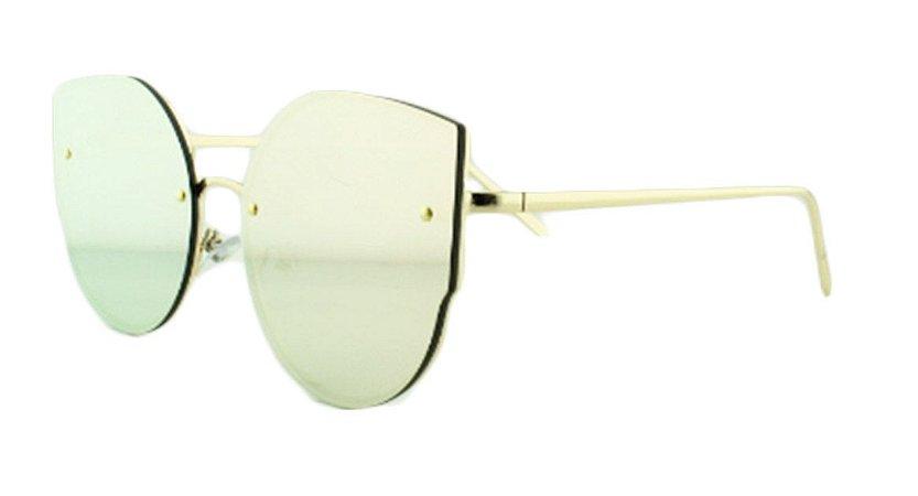 Óculos Solar Feminino AP8811 Rosa Espelhado