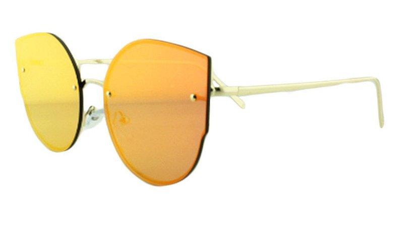 Óculos Solar Feminino AP8811 Vermelho Espelhado