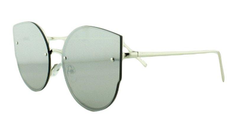 Óculos Solar Feminino AP8811 Prata Espelhado