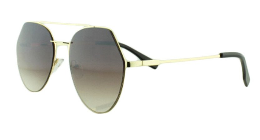 Óculos Solar Feminino K6185 Marrom Escuro Degradê