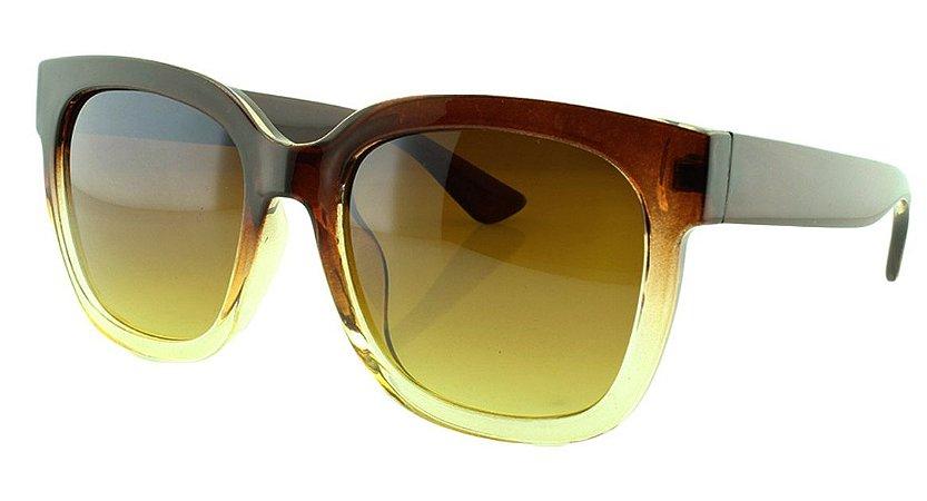 4f5e644c7475f Óculos Solar Feminino 681114 Marrom Degradê - Atacado de Óculos ...