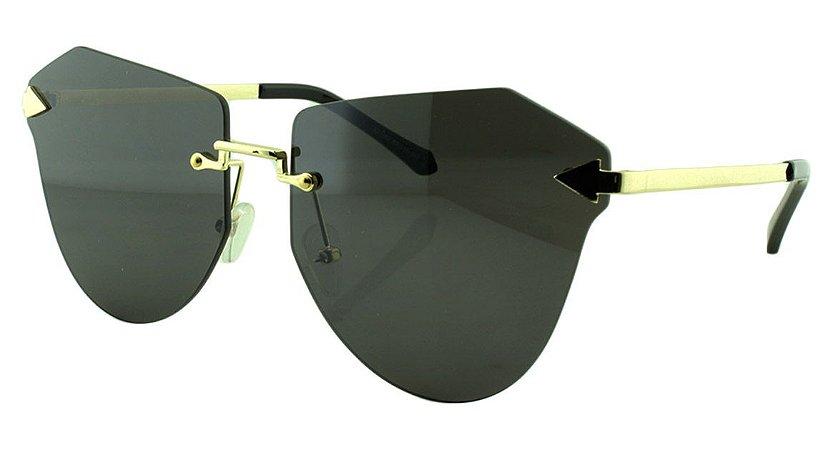 Óculos Solar Feminino Primeira Linha S31160 Preto e Dourado