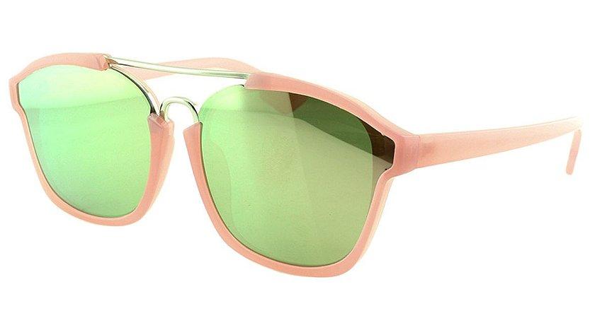 Óculos Solar Feminino Sortido VA7006 Rosa Espelhado