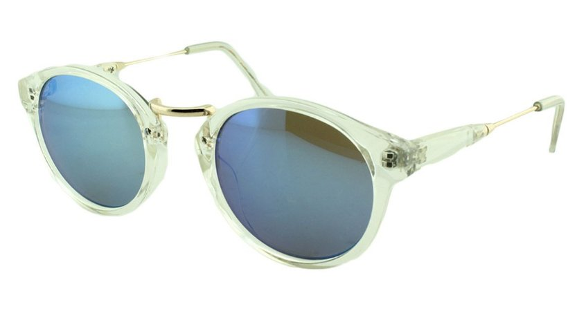Óculos Solar Unissex Sortido B881208 Azul Espelhado