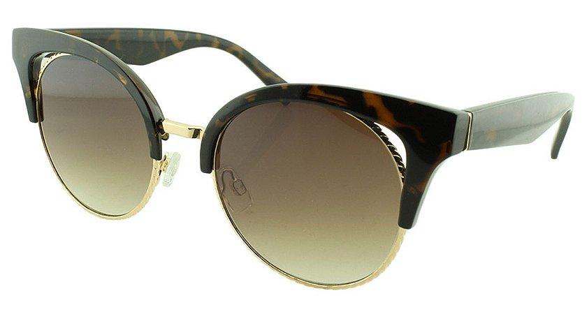 Óculos de Sol Feminino B881340 Marrom Onça