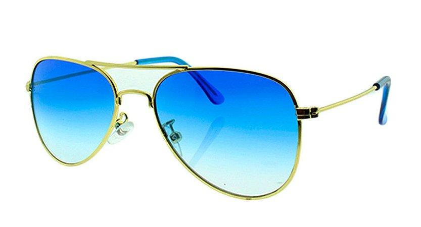Óculos Solar Infantil Aviador Azul Degradê