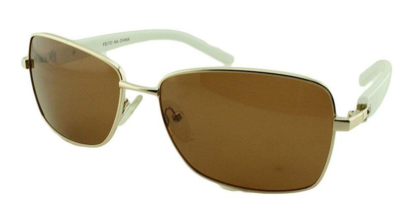 Óculos Solar Feminino Polarizado 3132R Dourado