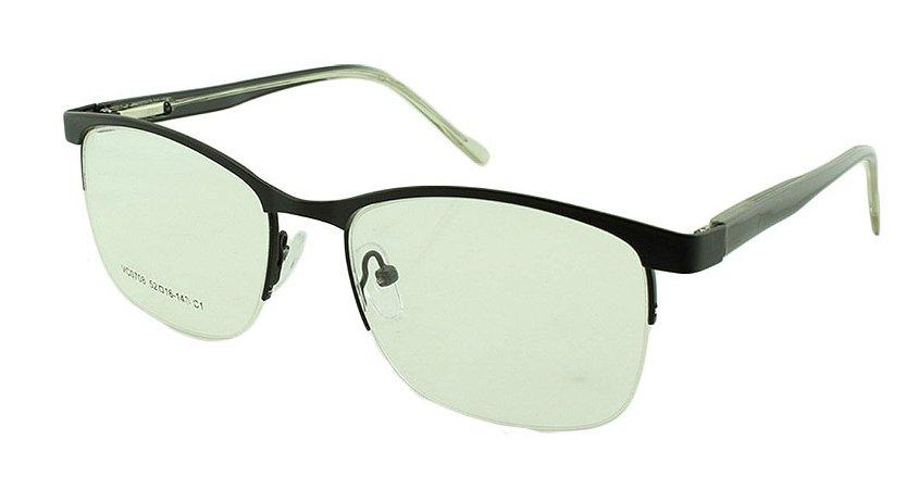 Armação para Óculos de Grau Unissex VC0708 Preta