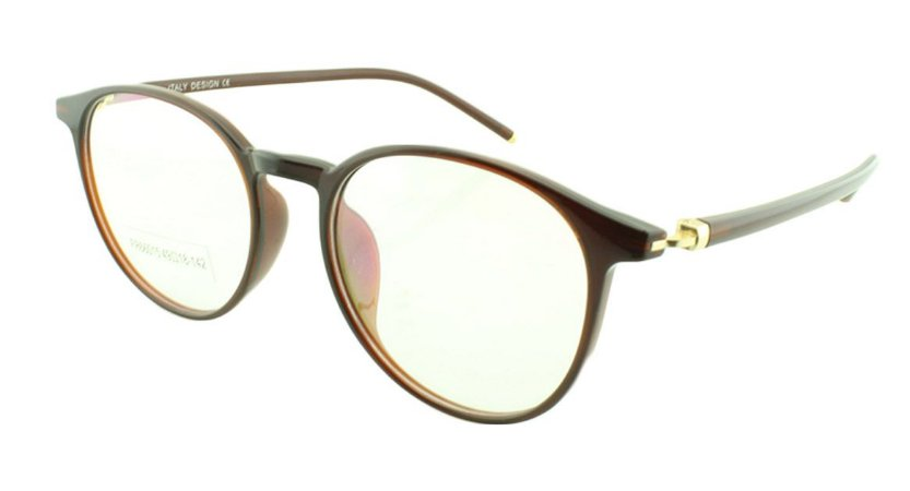 Armação para Óculos de Grau Unissex FR66015 Marrom