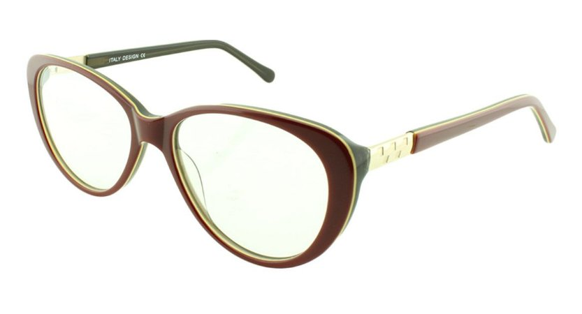 Armação para Óculos de Grau Feminino BC8182 Vinho e Fumê