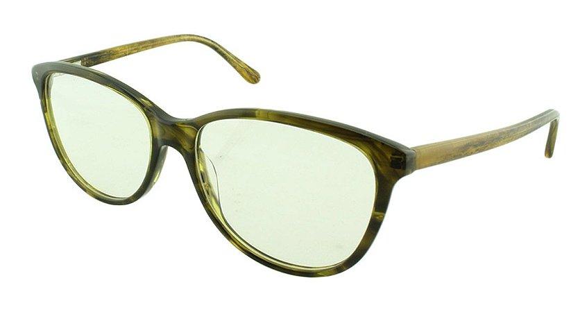 Armação para Óculos de Grau Feminino 8088 Preta e Dourada