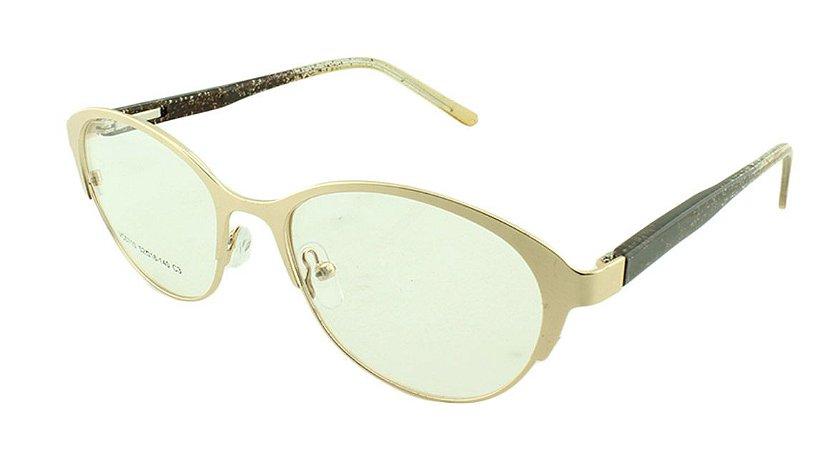Armação para Óculos de Grau Feminino VC0710 Dourada