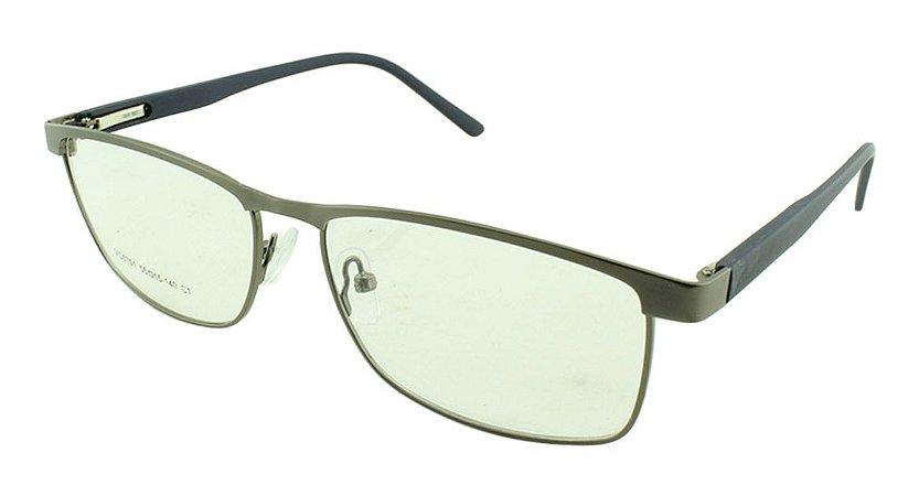 173bed4e1 Armação para Óculos de Grau Masculino VC0701 Prata e Azul - Atacado ...