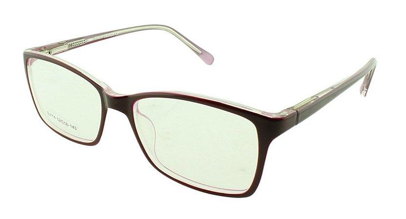 2dd933a99 Armação para Óculos de Grau Feminino SJ114 Vinho - Atacado de Óculos ...