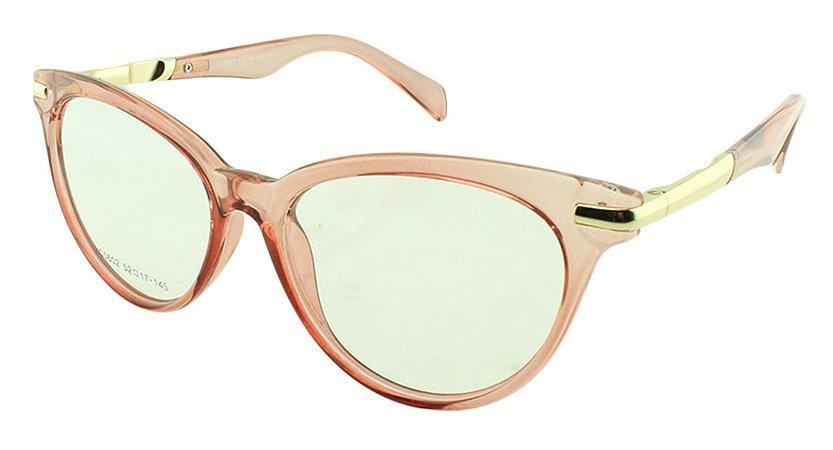 55e61259ba66e Armação para Óculos de Grau Feminino VC0602 Rosa Transparente ...