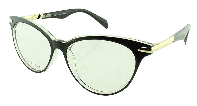 Armação para Óculos de Grau Feminino VC0602 Preta