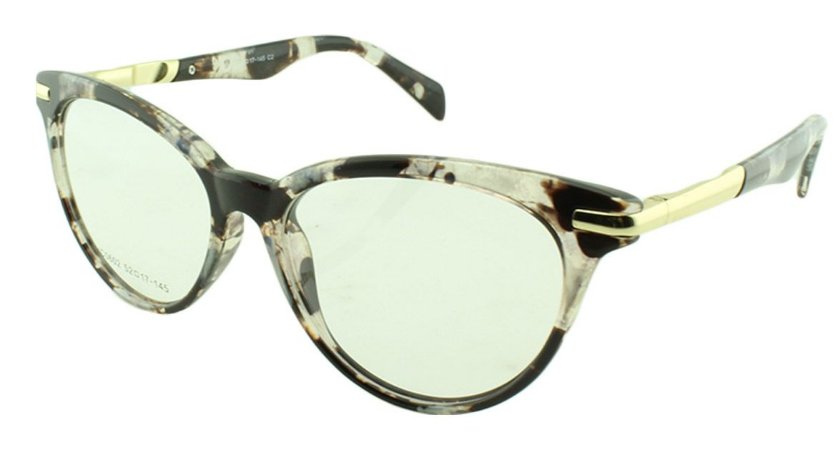 Armação para Óculos de Grau Feminino VC0602 Marrom e Transparente