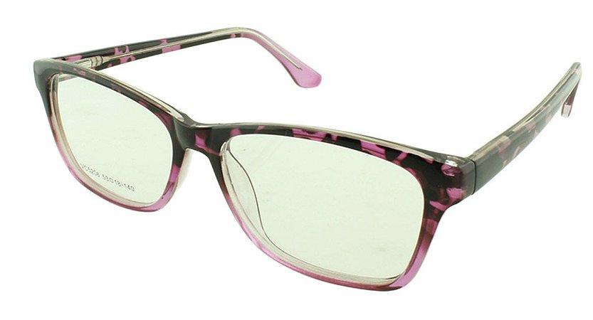 2a32feac4 Armação para Óculos de Grau Feminino VC5206 Preta e Rosa - Atacado ...