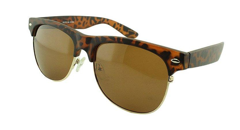 Óculos Solar Unissex Polarizado BA2097 Marrom Onça