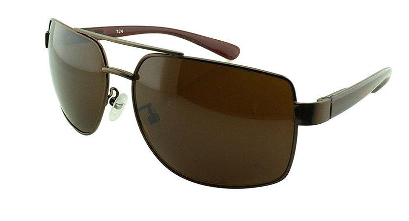 Óculos Solar Masculino 724 Marrom