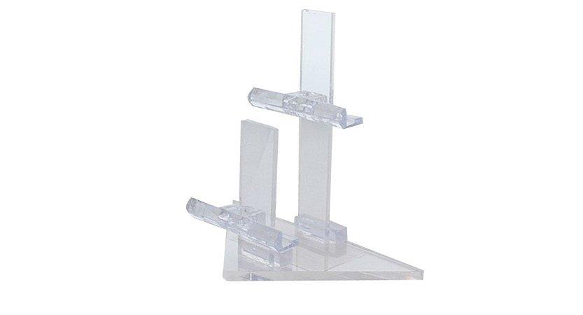 Expositor para 2 Óculos em Acrílico Pirâmide PR02 Transparente