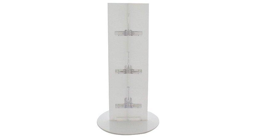 Expositor Torre para 3 Óculos em Plástico OTOR3 Branco