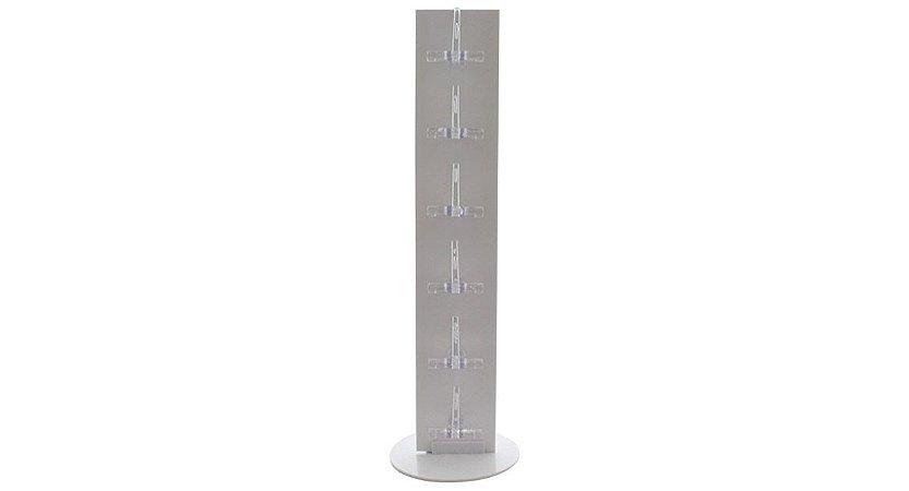 Expositor Torre para 6 Óculos em Plástico OTOR6 Branco