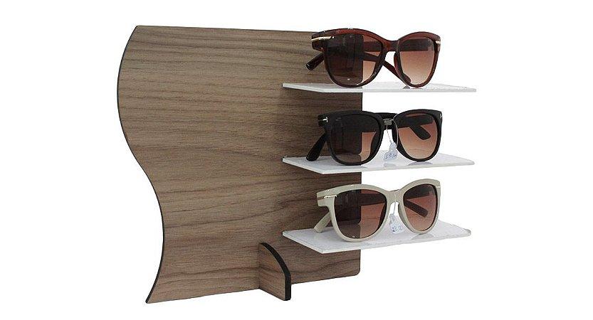 Expositor para 3 Óculos em MDF MAX3MDF Marrom