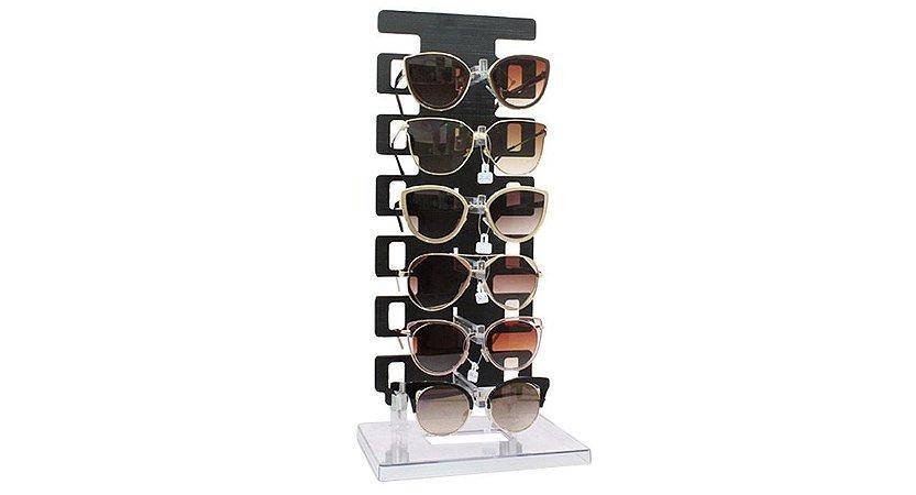 Expositor Torre para 6 Óculos em MDF 06MDF Preto