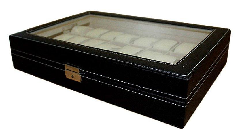 Caixa Expositora para 24 Relógios de Pulso BRX9913 Preta
