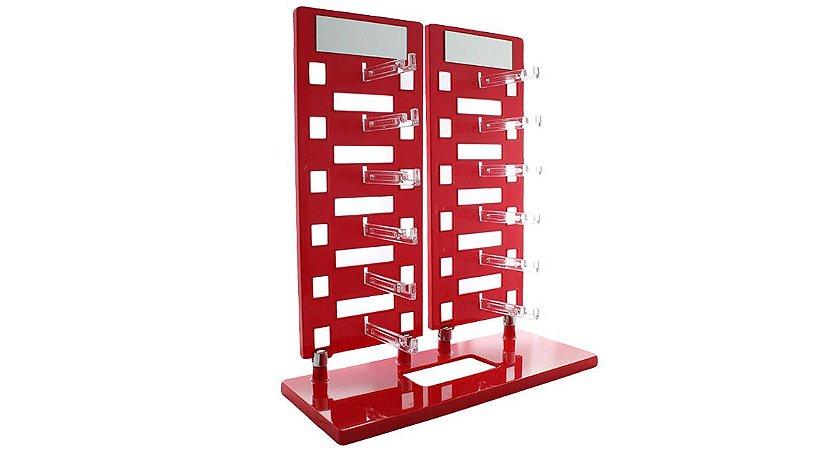 Expositor Torre para 12 Óculos com Espelhos EP12 Vermelho