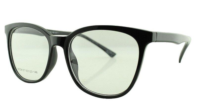 Armação para Óculos de Grau Feminino 37 Preta
