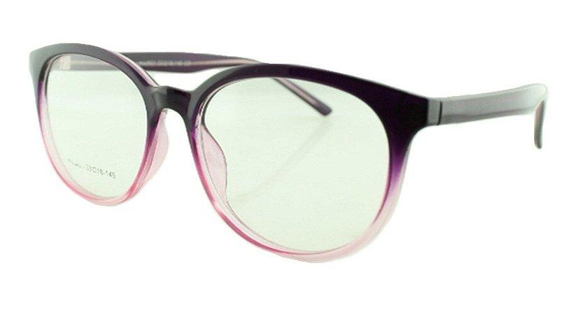 Armação para Óculos de Grau Unissex 21A Roxo e Rosa
