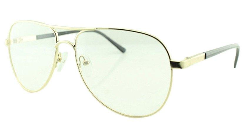 Armação para Óculos de Grau Unissex Aviador HC12011 Dourada