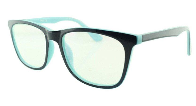 d85cb102e Armação para Óculos de Grau Feminino TSH7059 Azul e Turquesa ...